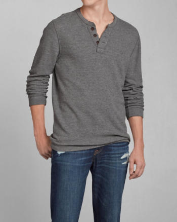Mens Schofield Cobble Waffle Henley
