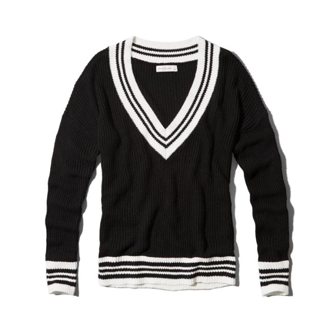The cropped varsity is the relaxed crop sweater you've been dying for. Just long enough to add some warmth, this sweater pairs perfectly with Berkley Bells for late night study*IMPORTED* *% Poly *Basically Wrinkle-proof.