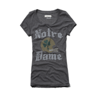 Womens Notre Dame Graphic Tee