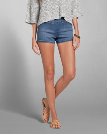 Womens A&F Natural Waist Tap Short