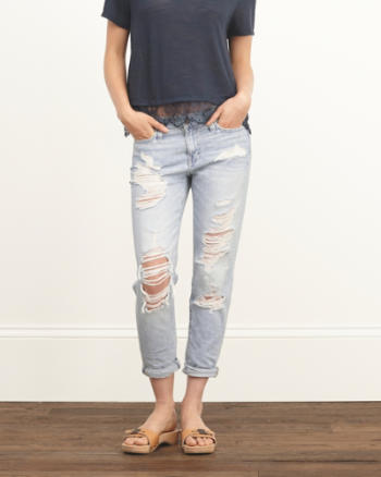 Womens A&F Allie Low Rise Boyfriend Jeans