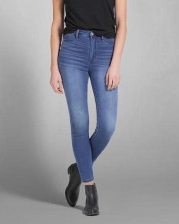 Womens A&F Cara High Rise Ankle Jean Leggings
