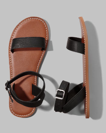 Womens Classic Leather Sandals