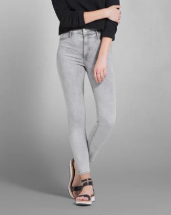 Womens A&F Cara High Rise Ankle Jean Legging