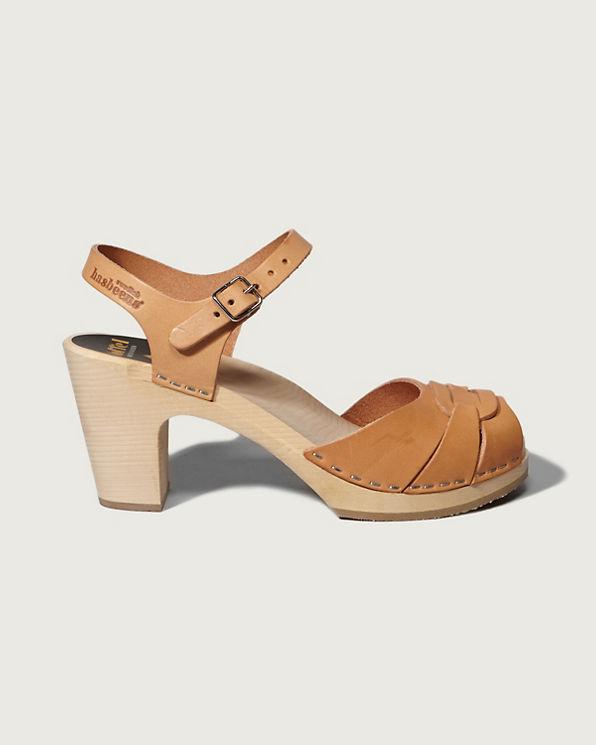 Swedish Hasbeens Peep Toe Super High Sandal
