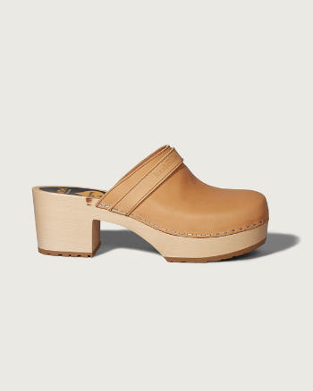Womens Swedish Hasbeens Plateau Sandal