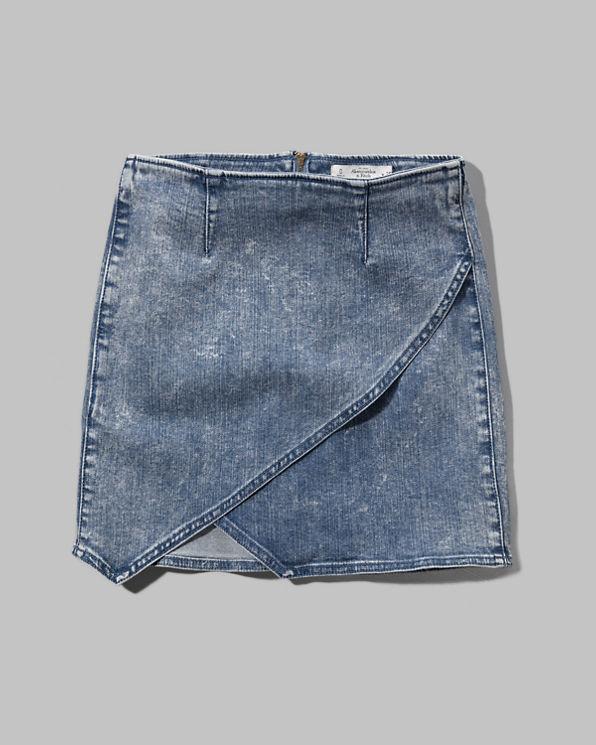 womens denim wrap skirt womens sale abercrombie co uk