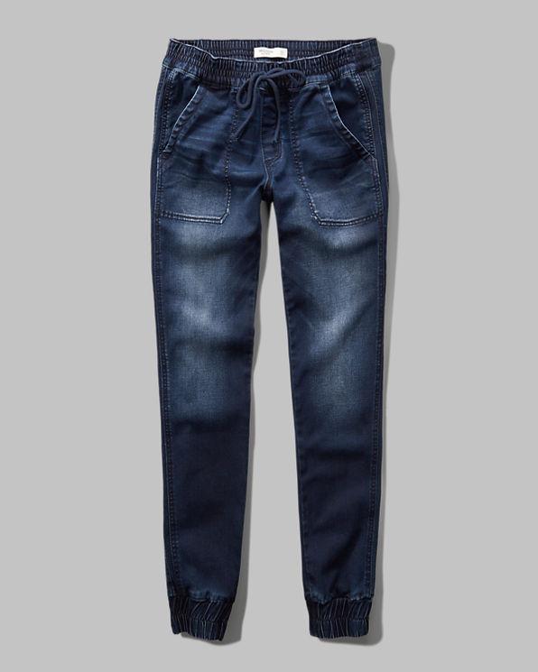 Popular Denim Jogger Pants