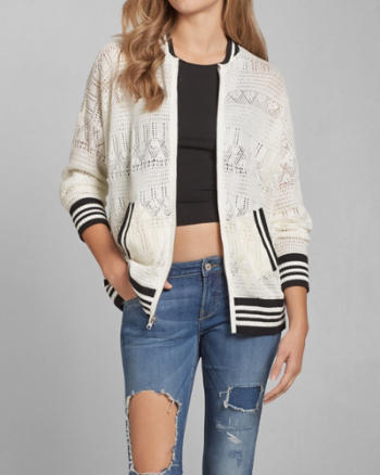 Womens Hilary Bomber Sweater