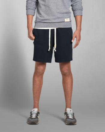 Mens A&F Terry Preppy Fit Shorts