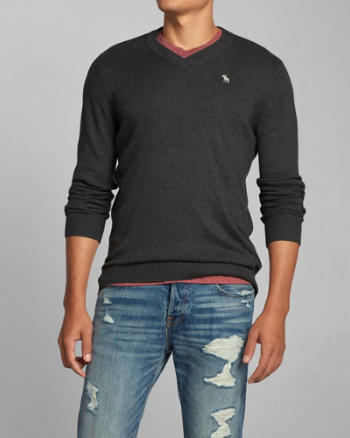 Mens Lake Road V-Neck Sweater