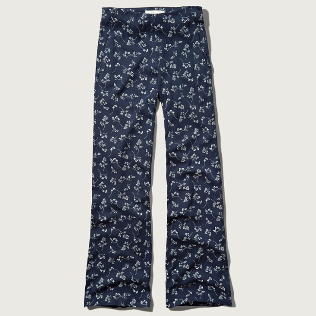 Awesome Womens Pattern Drapey Flare Pants  Womens New Arrivals  Abercrombie