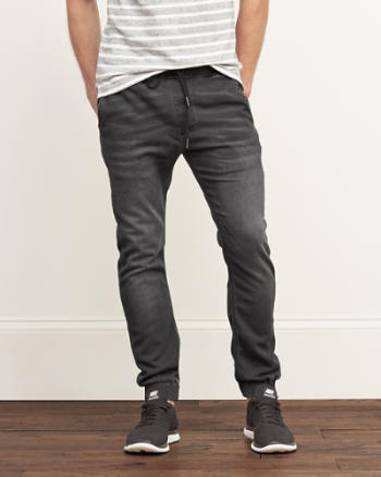 Mens Denim Everyday Stretch Joggers