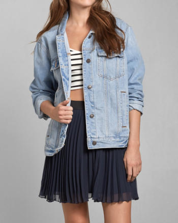 Womens Oversized Boyfriend Denim Jacket
