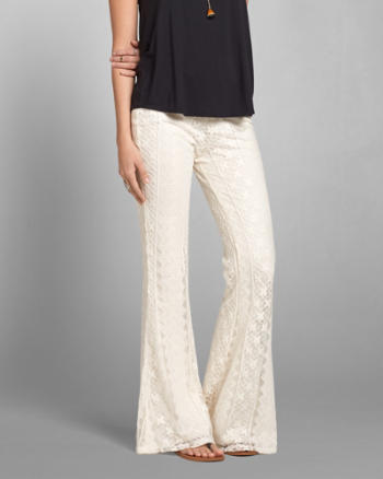Womens Lace Flare Pant