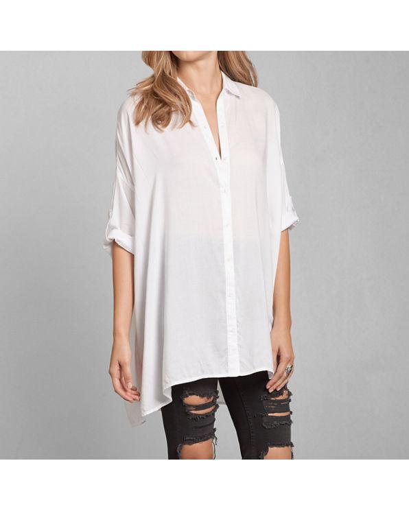 Womens dolman button down shirt womens sale for Womens tall button down shirts