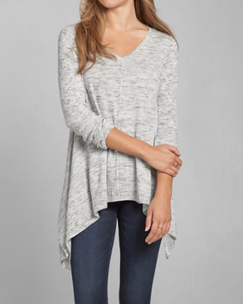Womens Drapey V Neck Sweater