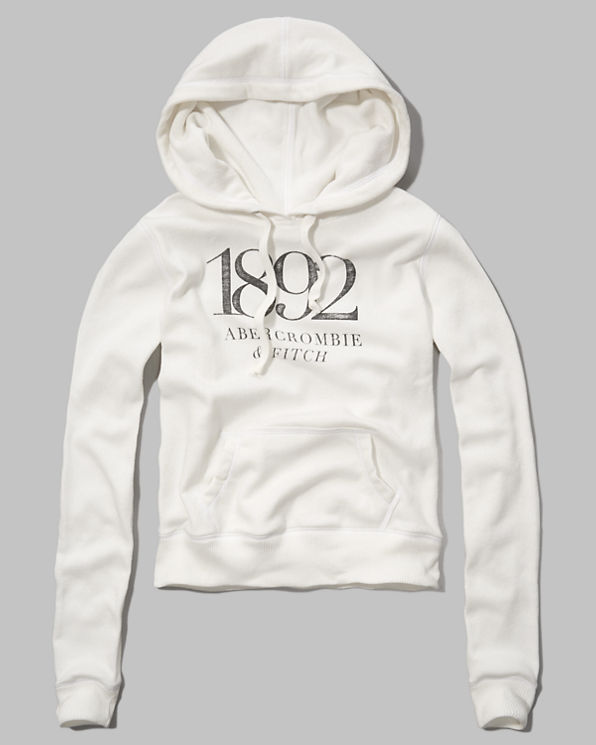 Abercrombie Hoodie White