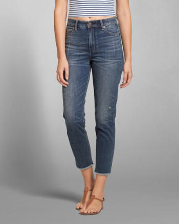 Womens A&F High Rise Girlfriend