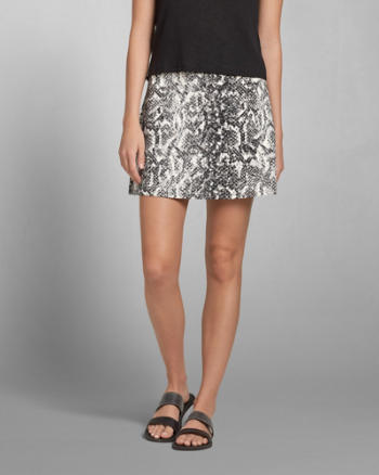 Womens Neoprene A-Line Skirt