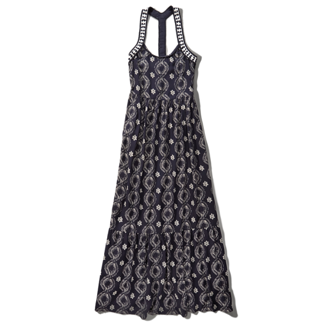 Womens Printed T-Back Maxi Dress | Womens The Trend Edit | Abercrombie ...