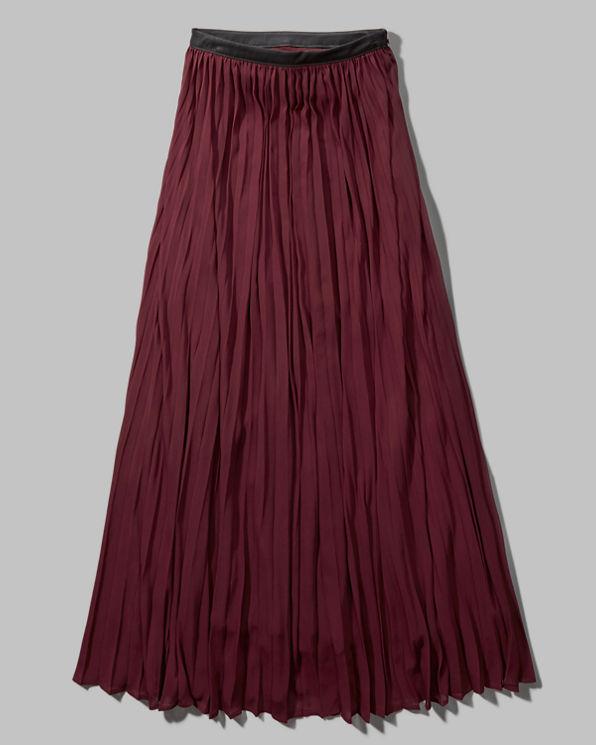 womens pleated chiffon maxi skirt womens sale