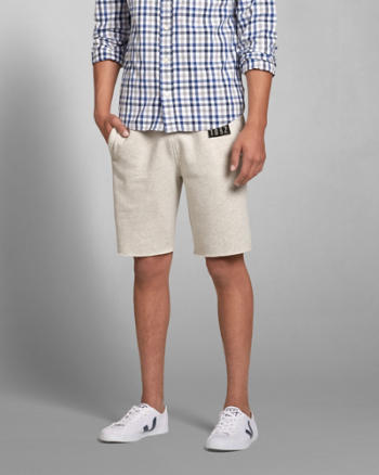 Mens A&F Fleece Classic Fit Shorts