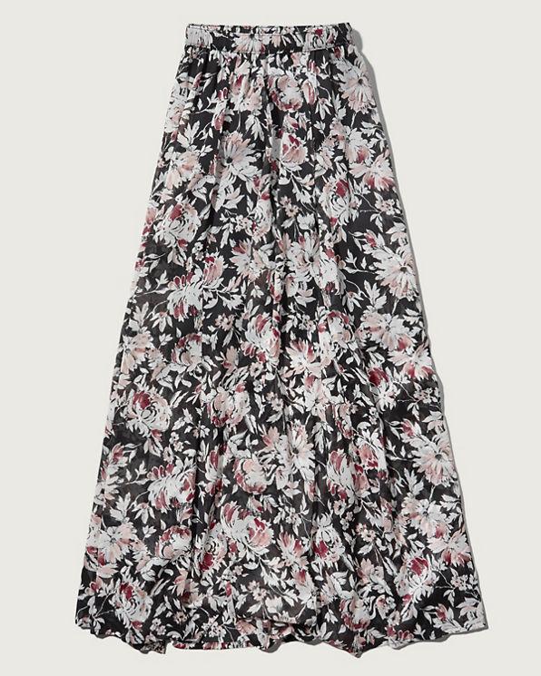 womens floral chiffon maxi skirt womens sale