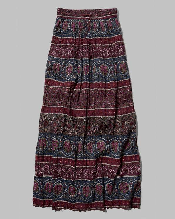 womens pattern pleated maxi skirt womens sale