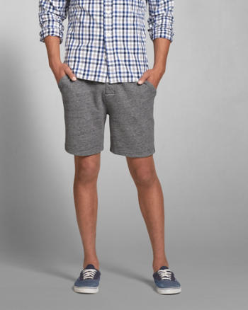 Mens A&F Fleece Five-Pocket Shorts