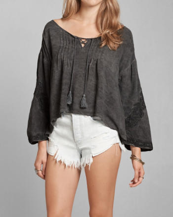 Womens Supersoft Peasant Blouse