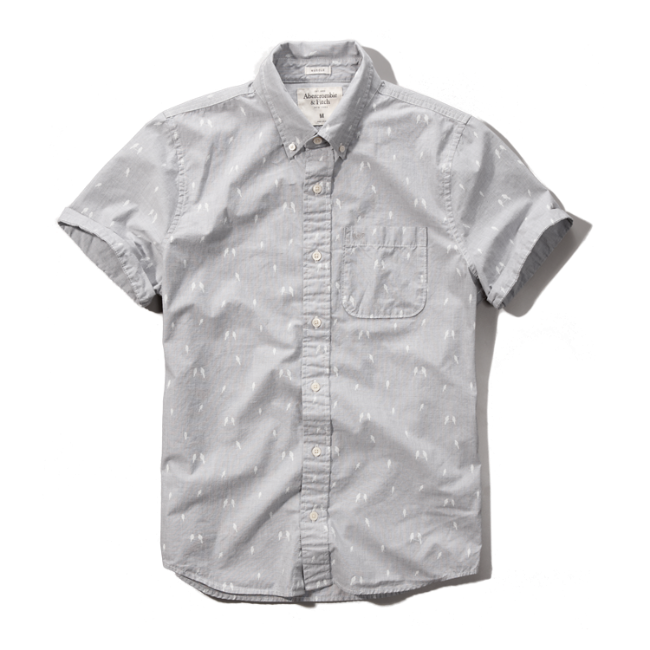 Mens pattern short sleeve pocket shirt mens clearance for Short sleeve mens dress shirts clearance
