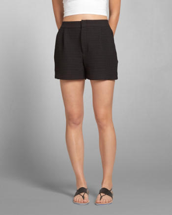 Womens High Waist Knit Tap Shorts
