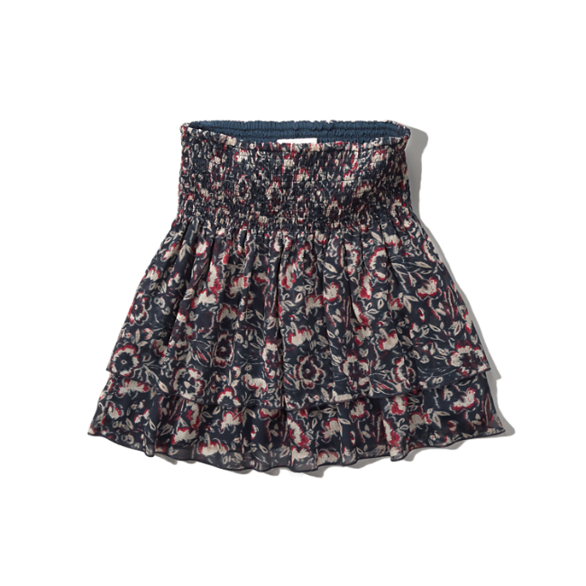 womens patterned ruffle tier skirt womens sale