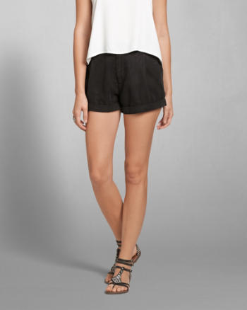 Womens A&F High Rise Boyfriend Shorts