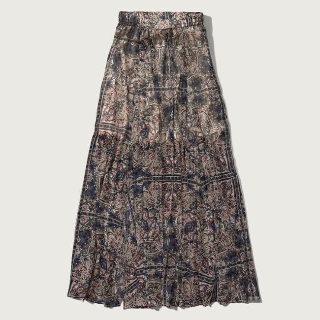 womens pattern chiffon maxi skirt womens new arrivals