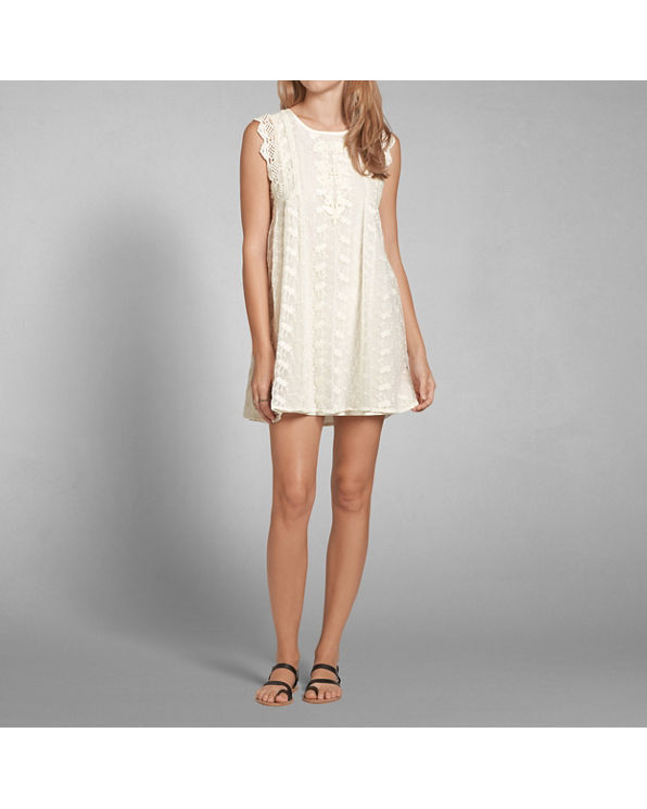 Embroidered Lace Babydoll Dress