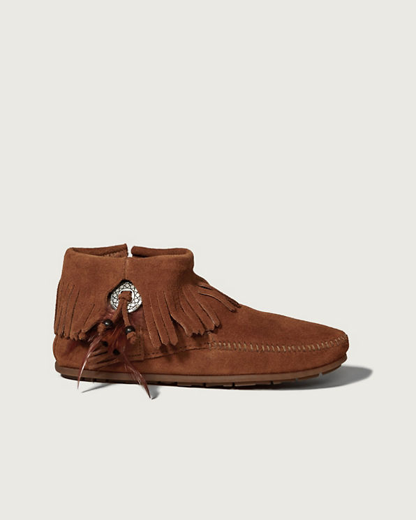 Minnetonka Concho Feather Side Boot