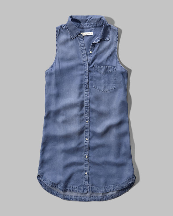Lastest Fashion Summer 2015 Womens Elegant Pocket Strap Denim Dress Sleeveless