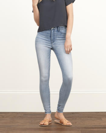 Womens A&F High Rise Jean Leggings