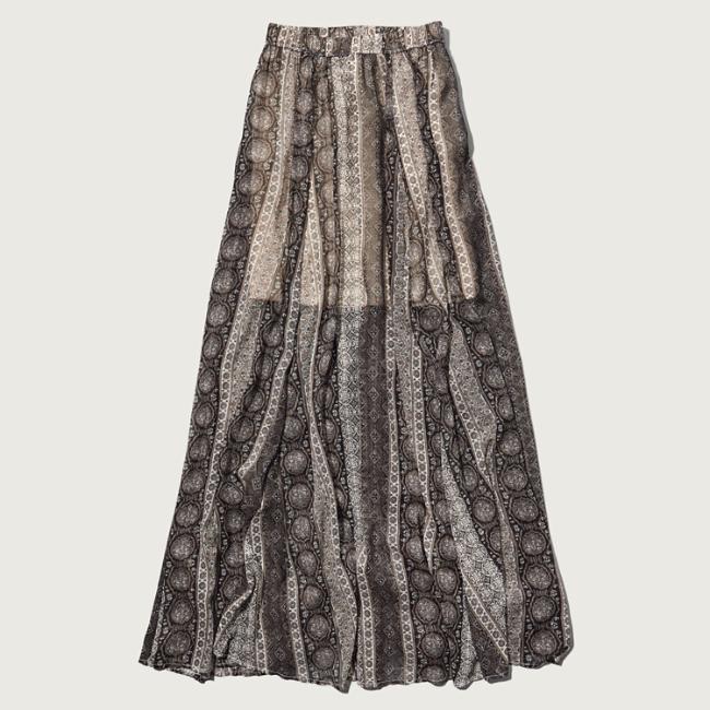 womens pattern chiffon maxi skirt womens skirts
