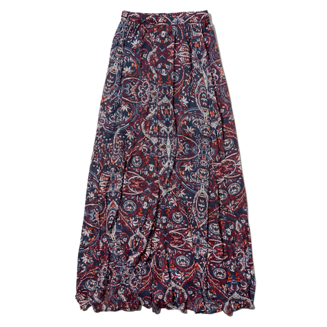 womens pattern chiffon maxi skirt womens summer getaways