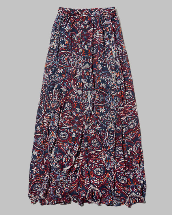 womens pattern chiffon maxi skirt womens skirts