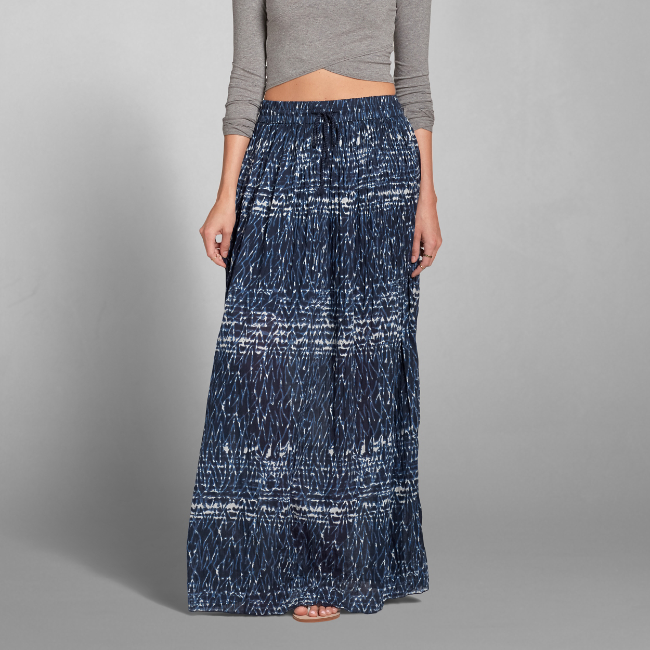 womens pattern pleated maxi skirt womens skirts