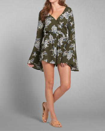 Womens Bell Sleeve Romper