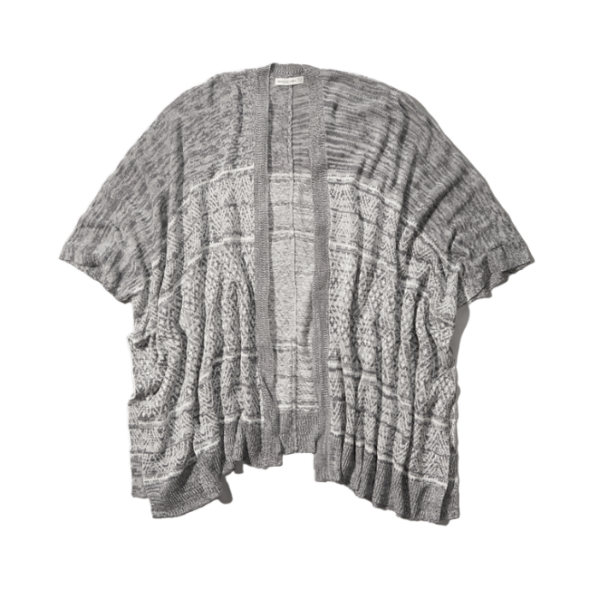 Womens Lightweight Pattern Poncho | Womens Clearance ...