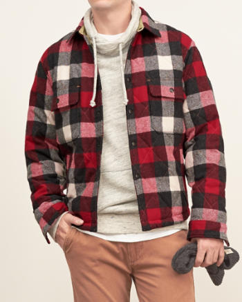 Mens Woolrich Shirt Jacket