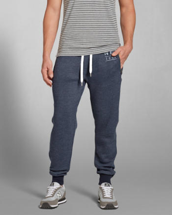 Mens A&F Zip Pocket Jogger Sweatpants