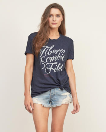 Womens Front Knot Graphic Tee