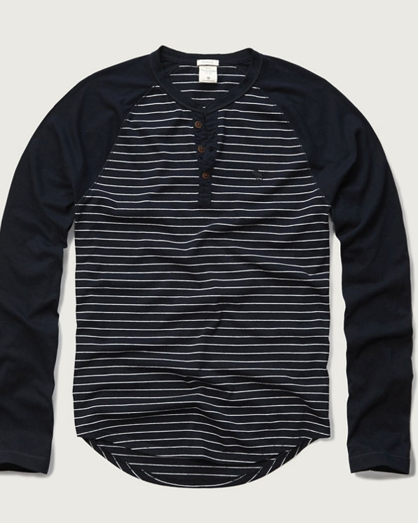 Striped Baseball Henley